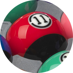 Aramith Black pool balls